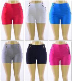 72 Bulk Women's Millennium High Waist Shorts