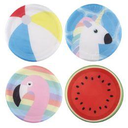 24 Bulk Assorted Summer Themed Flying Disc