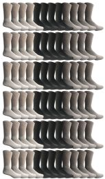 240 Bulk Yacht & Smith Men's Sports Crew Socks, Assorted Colors Size 10-13
