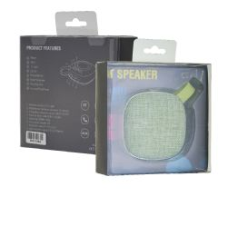 12 Bulk Fabric Bluetooth Speaker Green