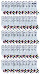 60 Bulk Yacht & Smith Men's King Size Cotton Sport Ankle Socks Size 13-16 With Stripes