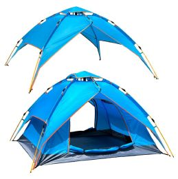 2 Bulk Camping Tent Light Blue 3-4 People