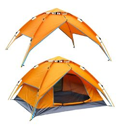 2 Bulk Camping Tent Orange 3-4 People