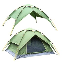 2 Bulk Camping Tent Green 3-4 People