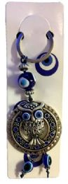 96 Bulk Large Evil Eye Owl Keychain
