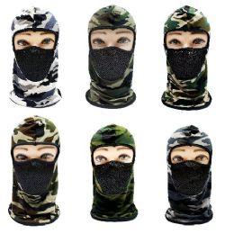 24 Bulk Ninja Face Mask [camo With Mesh Front]