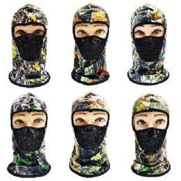 24 Bulk Ninja Face Mask [hardwood Camo With Mesh Front]