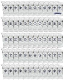 240 Bulk Yacht & Smith Kids Cotton Crew Socks White Size 6-8