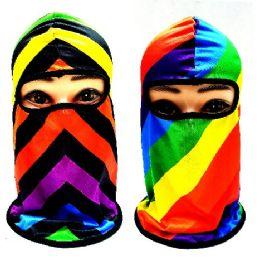 24 Bulk Rainbow Assortment Ninja Face Mask