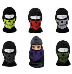 24 Bulk Ninja Face Mask [skullS-Color Assortment]