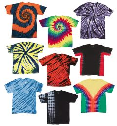 72 Bulk TiE-Dye - Youth TiE-Dye T-Shirt Assorted Colors And Sizes
