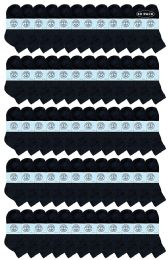 60 Bulk Yacht & Smith Kids Cotton Quarter Ankle Socks In Black Size 6-8
