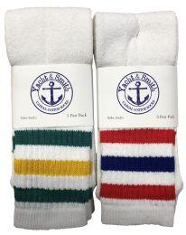 72 Bulk Yacht & Smith Men's 30 Inch Cotton King Size Extra Long Old School Tube SockS- Size 13-16