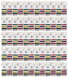 60 Bulk Yacht & Smith Men's 30 Inch Cotton King Size Extra Long Old School Tube SockS- Size 13-16