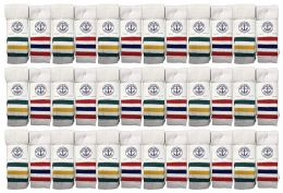 36 Bulk Yacht & Smith Men's 30 Inch Cotton King Size Extra Long Old School Tube SockS- Size 13-16