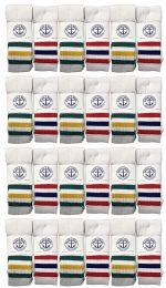 24 Bulk Yacht & Smith Men's 30 Inch Cotton King Size Extra Long Old School Tube SockS- Size 13-16