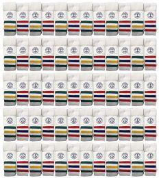 120 Bulk Yacht & Smith Men's 30 Inch Cotton King Size Extra Long Old School Tube SockS- Size 13-16