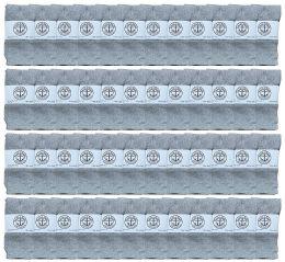 48 Bulk Yacht & Smith Kids Gray Solid Tube Socks Size 4-6