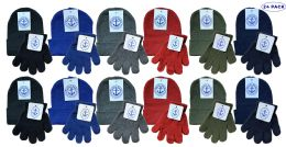 24 Bulk Yacht & Smith Wholesale Kids Beanie And Glove Sets (beanie Glove Set, 24)