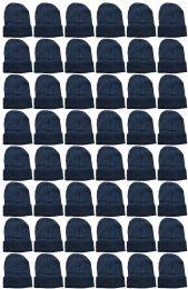 240 Bulk Yacht & Smith Unisex Winter Warm Beanie Hats In Solid Black