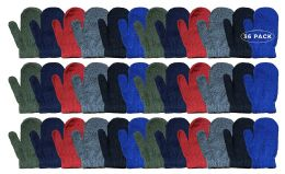 36 Bulk Yacht & Smith Kids Warm Winter Colorful Magic Stretch Mittens Age 2-8