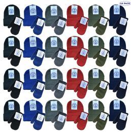 48 Bulk Yacht & Smith Wholesale Kids Beanie And Glove Sets (beanie Mitten Set, 48)