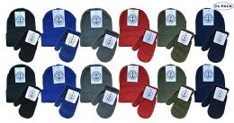24 Bulk Yacht & Smith Wholesale Kids Beanie And Glove Sets (beanie Mitten Set, 24)
