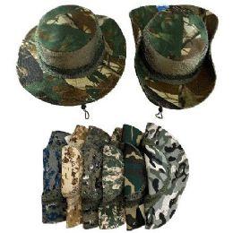 24 Bulk Floppy Boonie Hat (digital/army Camo) Mesh Sides