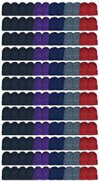 144 Bulk Yacht & Smith Ladies Winter Toboggan Beanie Hats In Assorted Colors