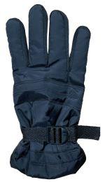 72 Bulk Yacht & Smith Men's Winter Warm Gloves, Fleece Lined With Black Gripper
