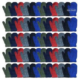 240 Bulk Yacht & Smith Kids Warm Winter Colorful Magic Stretch Mittens Age 2-8