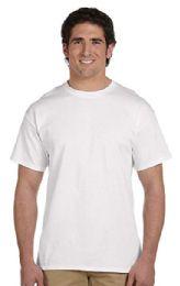 72 Bulk Men's Fruit Of The Loom 50/50 Cotton Blend White T-Shirt, Size 2xl