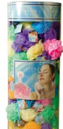 144 Bulk Exfoliating Bath Sponge With Suction Cup in