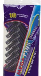120 Bulk 10 Pack Disposable Twin Blade Man Razors Stainless Steel