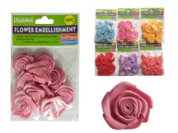 288 Bulk 10 Piece Flower Embellishments