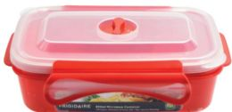 6 Bulk Rectangle Microwave Container