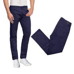 36 Bulk Men's 5-Pocket UltrA-Stretch Skinny Fit Chino Pants Black