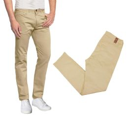 36 Bulk Men's 5-Pocket UltrA-Stretch Skinny Fit Chino Pants Khaki