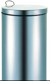 2 Bulk Stainless Steel Step Trash Can