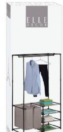 5 Bulk 4 Shelf Wardrobe With 2 Hampers