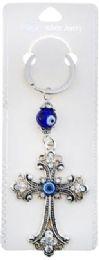 96 Bulk Evil Eye Cross Keychain