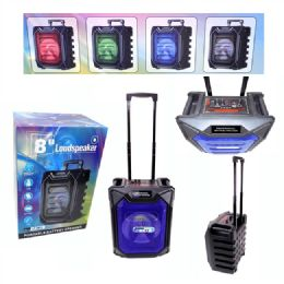 4 Bulk 8 Inches Portable Speaker With Trolley