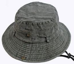 36 Bulk Adult Stonewash Heavy Denim Fishermen Hat