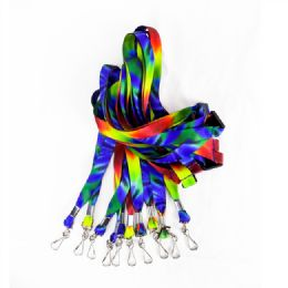 600 Bulk Tie Dye Lanyard With J Hook