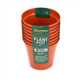 72 Bulk 3 Inch Plastic Plant Pot 8 Pieces