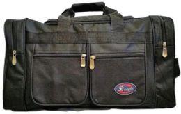 24 Bulk 24 Inch Black Heavy Duty Duffel Bag