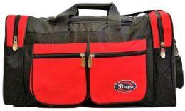 24 Bulk 30 Inch Red Heavy Duty Duffel Bag