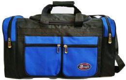 24 Bulk 30 Inch Royal Blue Heavy Duty Duffel Bag