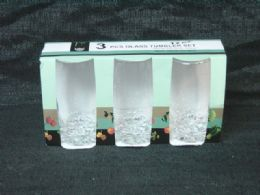 24 Bulk 3 Piece Glass Tumbler Set