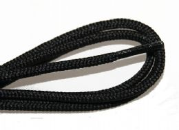 72 Bulk 54 Inch Rounded Black Shoe Lace For Dress Shoes, And Casual Wear